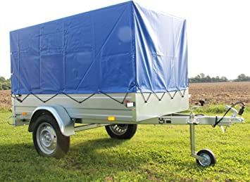 Stema Pkw Anhänger Opti 750 Kg Hänger Komplett Plane Spriegel Stützrad Autoanhänger Amazon De Auto
