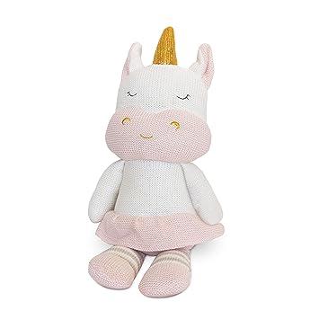 Amazon Com Living Textiles Plush Toy Kenzie The Unicorn Knitted