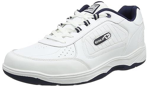 Gola Ama203, Zapatillas Deportivas para Interior para Hombre, Blanco (White/Navy We), 49 EU