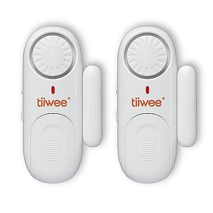 tiiwee Alarma de Ventana y de Puerta 120dB Seguridad en el hogar - Pilas incluidas -