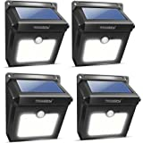 Neloodony lámparas solares inalámbricas con sensor de movimiento 28 ledes, recargables, impermeables, luces de seguridad, potente para paredes exterior, jardín, patio, sendero