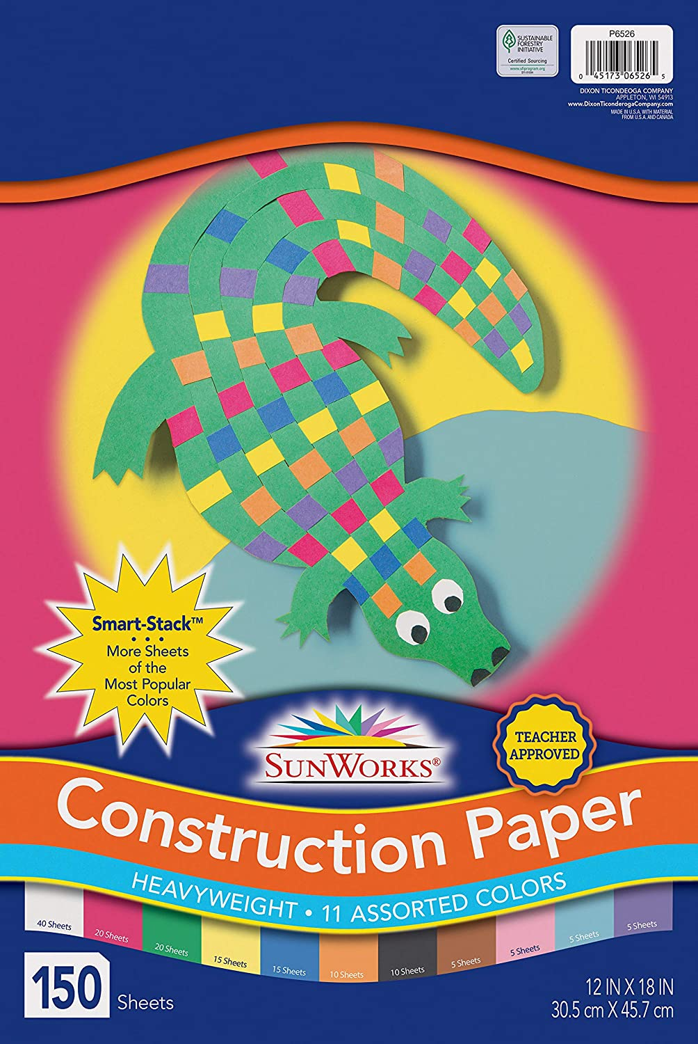 18 x 24 Inches SunWorks Heavyweight Construction Paper Pack of 100 Black