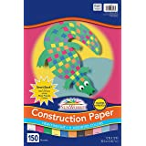 "SunWorks 6526 Construction Paper, 11 Assorted Colors, 12"" x 18"", 150 Sheets"