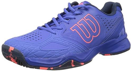 36643e7fa8b8 Wilson Women s KAOS COMP W Amparo Blu Surf The W Fier 4 Tennis Shoes