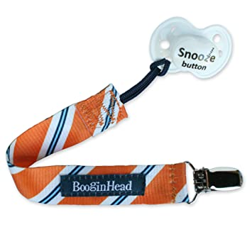 Footballs Brown White Sports pacifier clip binky leash baby shower gift