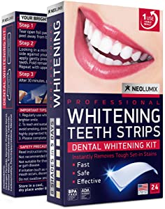 Teeth Whitening Strips - 24 Individual Whitening strips - White Teeth in 5 Days - Professional Express 3D Teeth Whitening for Sensitive Teeth and Gums - Formulated in USA - Teeth Whitening Kit