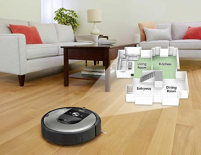 iRobot Roomba i7156 Robot Aspirador Adaptable al hogar, Ideal para Mascotas, Alta Potencia de succión con 2 cepillos de Goma, con conexión WiFi y ...