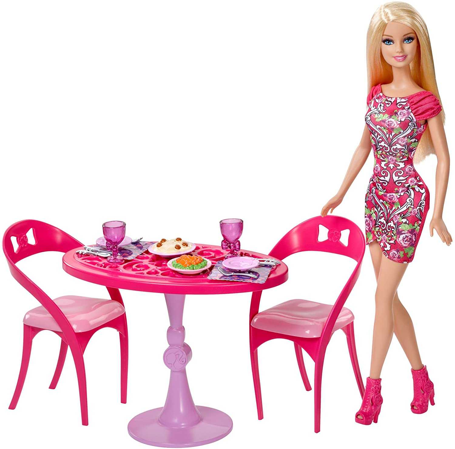 Barbie Doll and Dining Room Set