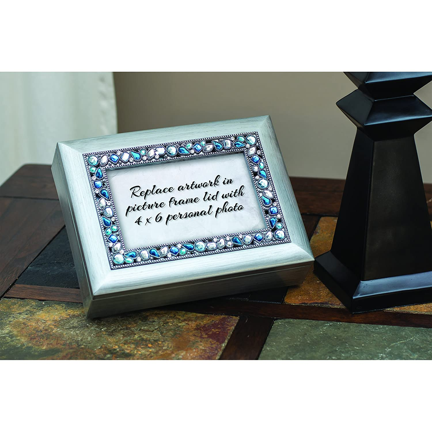 Mommy Dont Cry Bereavement Jeweled Musical Music Jewelry Box Plays Amazing Grace