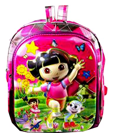 Image Unavailable. Image not available for. Colour  CIPS Kids Dora Nursery  Polyester School Bag 3D Printed Cartoon Backpack ... b6ba901552f83