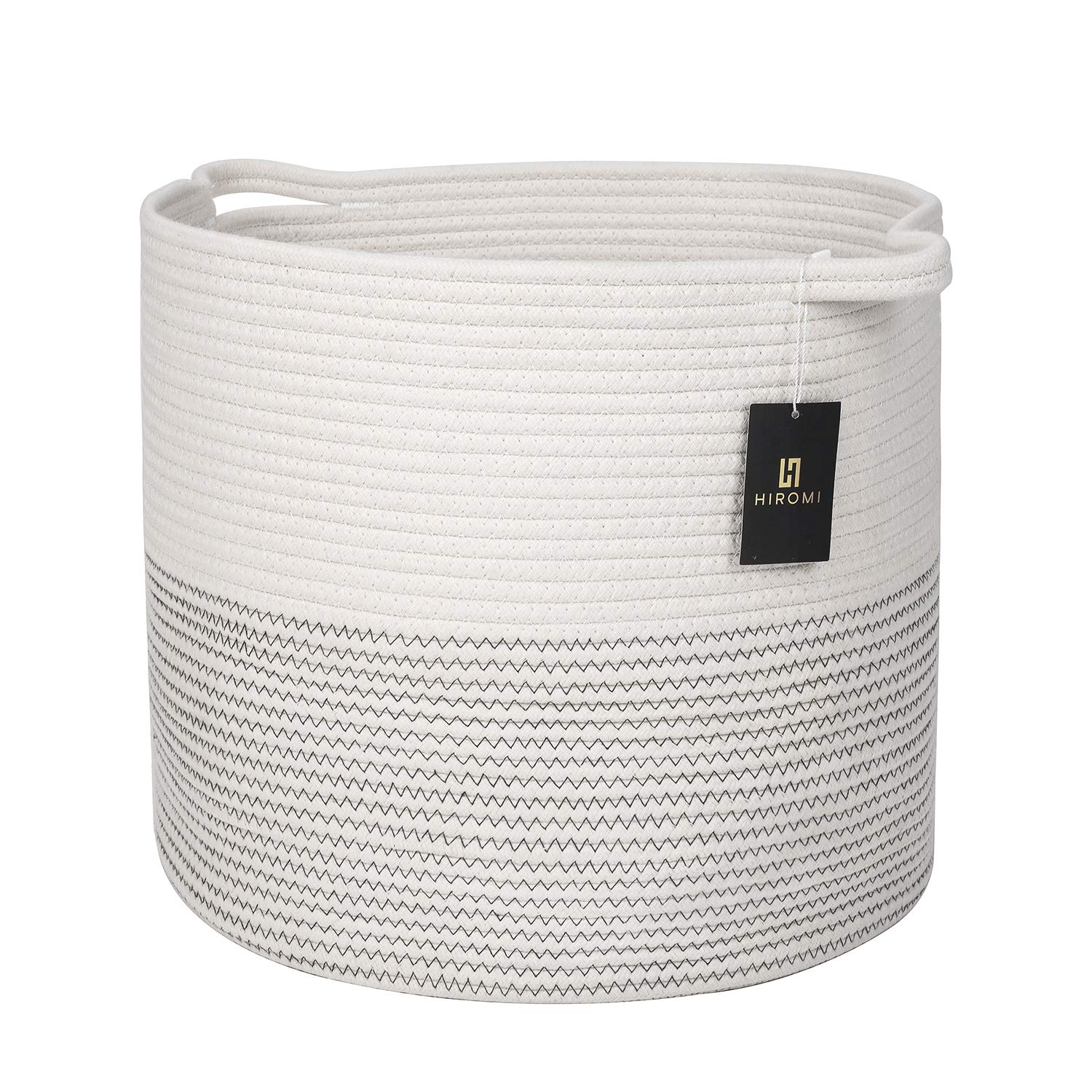 Hiromi Cotton Rope Basket – Decorative White Storage
