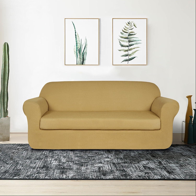 Amazon.com: Subrtex - 2 fundas de sofá elásticas de licra ...