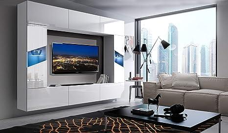 Home Direct S8 - Mueble de salón Moderno con estantes ...