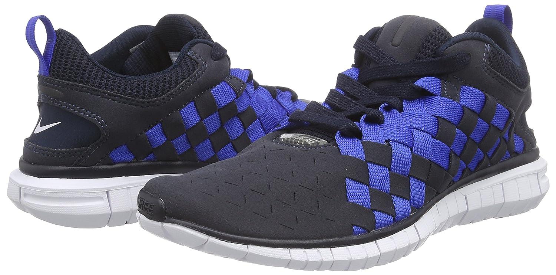 Nike Free OG 14 Woven Herren Sneakers  44 EU|Blau (Drk Obsdn/White-mid Nvy-gm Ryl 401)