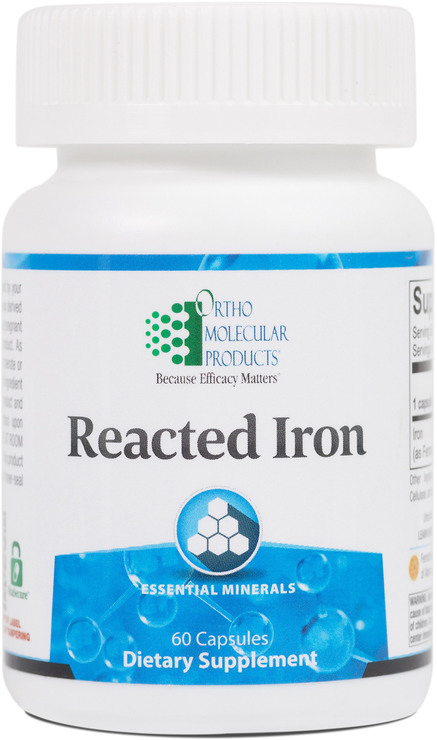 Ortho Molecular - Reacted Iron - 60 Capsules