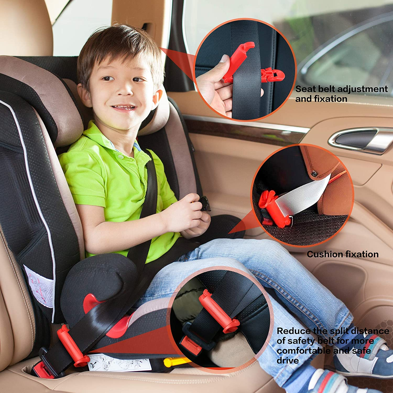 |1 Safety Belt Clip Buckle Black JFYMely 2 Pack Car Seat Belt Buckle Holder 1 Baby Chest Harness Clip Seat Guard for Car Seat /& Stroller Red Helper Keeps Receiver Upright for Kids /& Adults