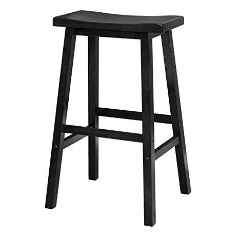 Astonishing Winsome Wood 29 Inch Saddle Seat Bar Stool Black Pabps2019 Chair Design Images Pabps2019Com