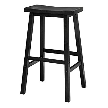 Outstanding Winsome Wood 29 Inch Saddle Seat Bar Stool Black Ocoug Best Dining Table And Chair Ideas Images Ocougorg