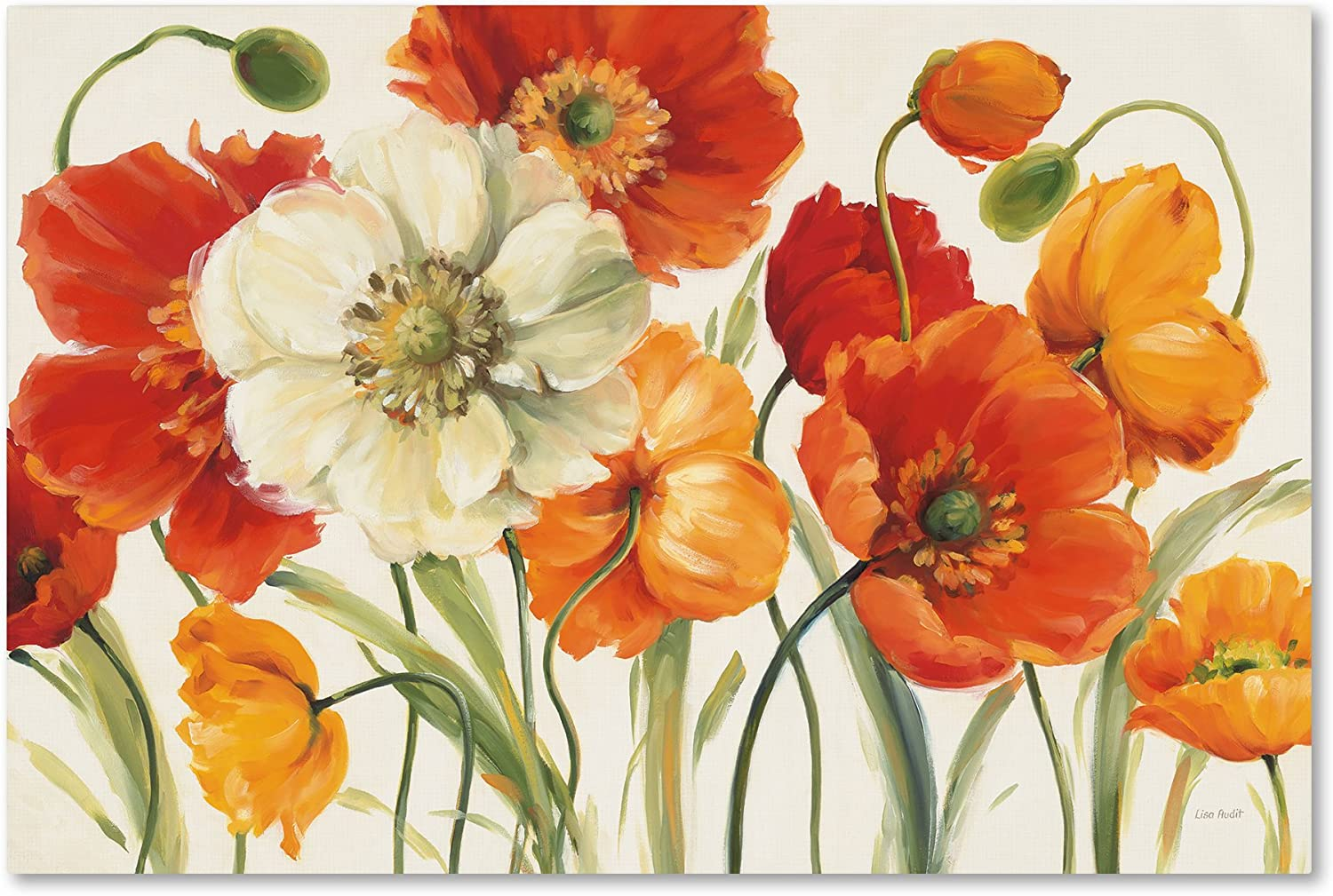 Poppies Melody I Wall Decor by Lisa Audit, 16