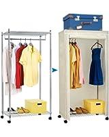 armoire a vetements penderie armoire de rangement a roulettes en panneaux de particules 02. Black Bedroom Furniture Sets. Home Design Ideas