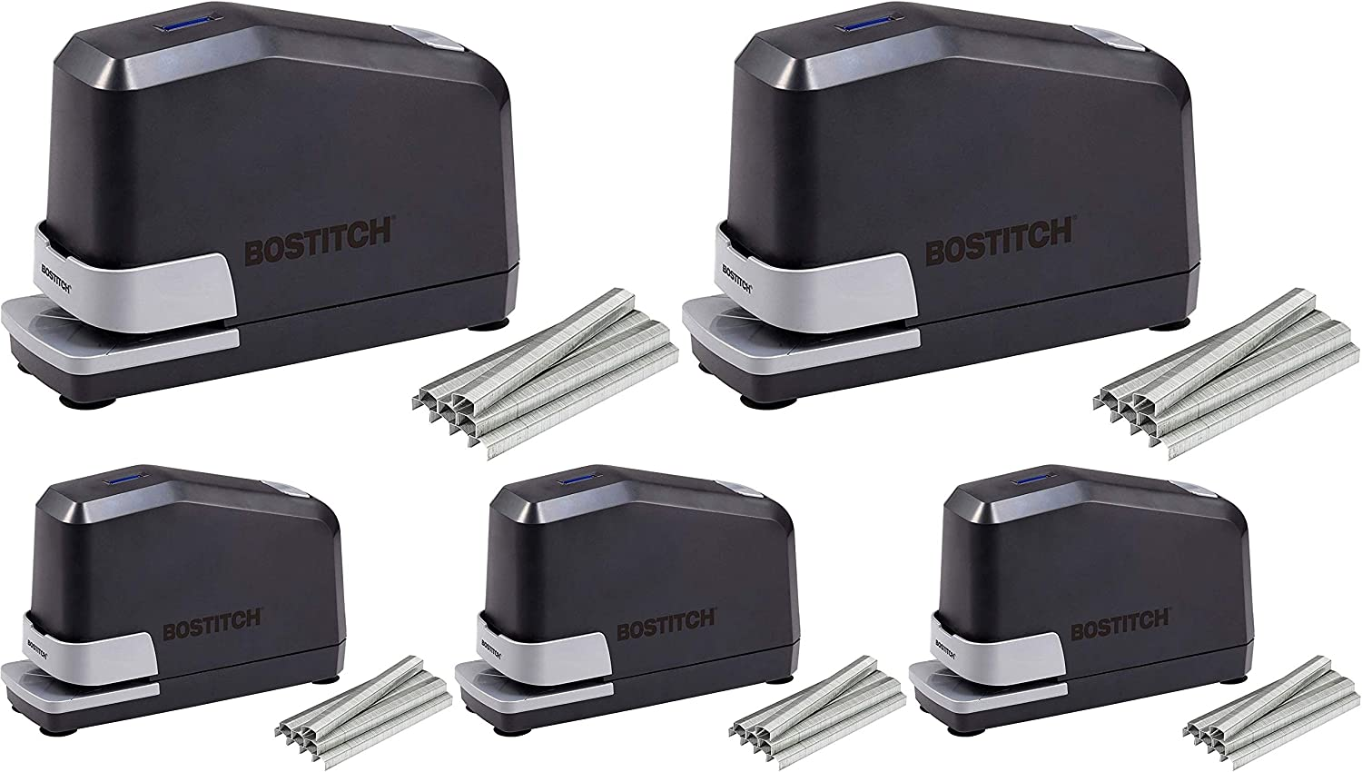 Double Heavy Duty No... Bostitch Impulse 45 Sheet Electric Stapler Value Pack