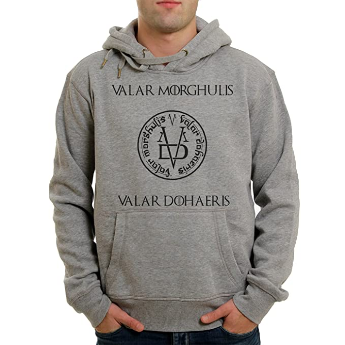 Vallar Morghulis Valar Dohaeris Game Of Thrones Png Quality XXL Unisex Hoodie: Amazon.es: Ropa y accesorios