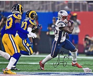 812ba8a6a Sony Michel New England Patriots Autographed 8 quot  x 10 quot  Super Bowl  LIII Champions Photograph