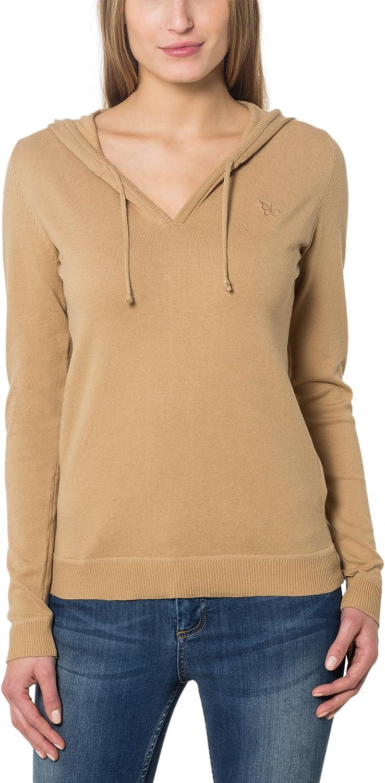 Berydale Jersey con capucha para mujer, con cuello de pico y capucha