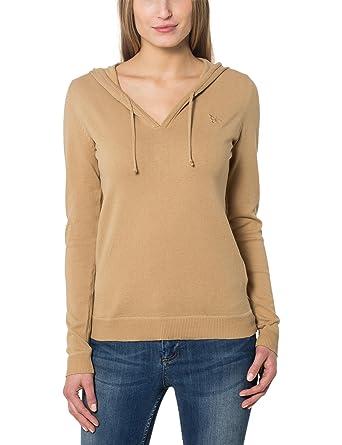 Berydale Damen Pullover mit V-Ausschnitt und Kapuze  Amazon.de  Bekleidung 4836b1ebe5
