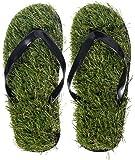 """VENKON - Herbe Tongs avec de Gazon Artificiel Gras Flip Flops - Pointure """"S"""" (env. 37 à 39)"""