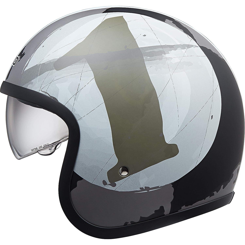 Nexo Motorradhelm Halbschalenhelm Gewicht: 1.050 g verschiedene Designs Ratschenverschluss waschbare Wangenpolster Jethelm Urban Style Pr/üfung: ECE 22//05 Sonnenblende XS-XL herausnehm-