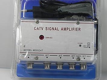 AMPLIFICADOR DE SEÑAL DE TELEVISION-4 SALIDAS-TV SIGNAL ...