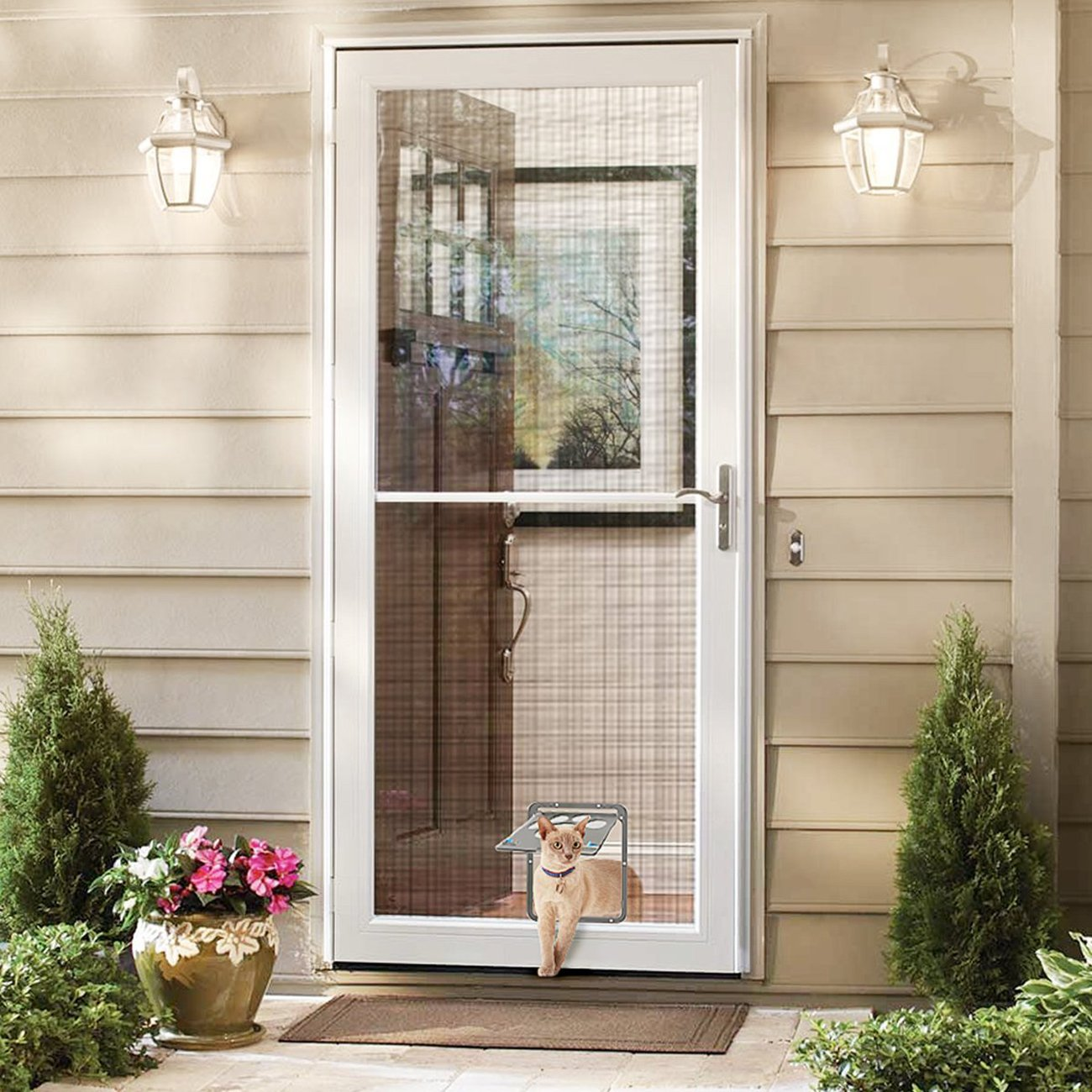 UHeng Magnetic Automatic Lock/Lockable Pet Screen Door cat Gate Way Pet Door for Screens by UHeng (Image #7)