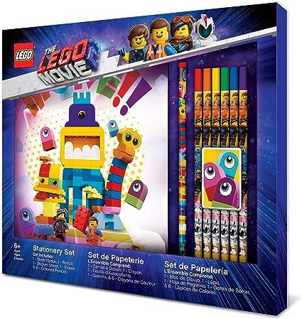 Note Book 2 Pencils 2 brick Erasers Marke LEGO set 6 Piece LEGO Stationery Set