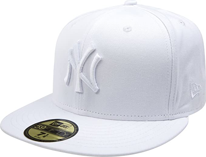 New Era 59fifty New York Yankees Baseball Fitted Hat All Black//White Outline