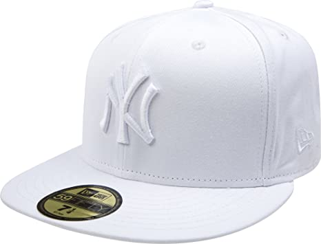 f73f73a7b14dd8 Amazon.com : MLB New York Yankees White on White 59FIFTY Fitted Cap ...