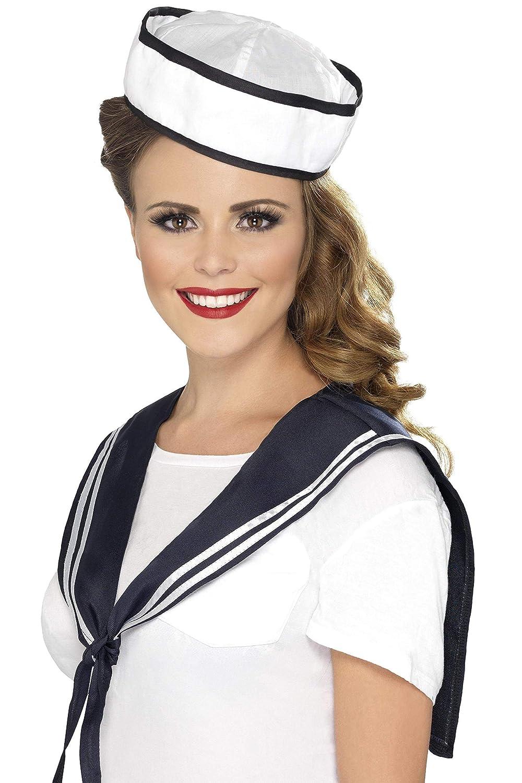 Smiffys Déguisement Femme Kit de Marin, Echarpe et chapeau, Troops, Serious Fun, Taille Unique, 32897 Déguisements pour adultes