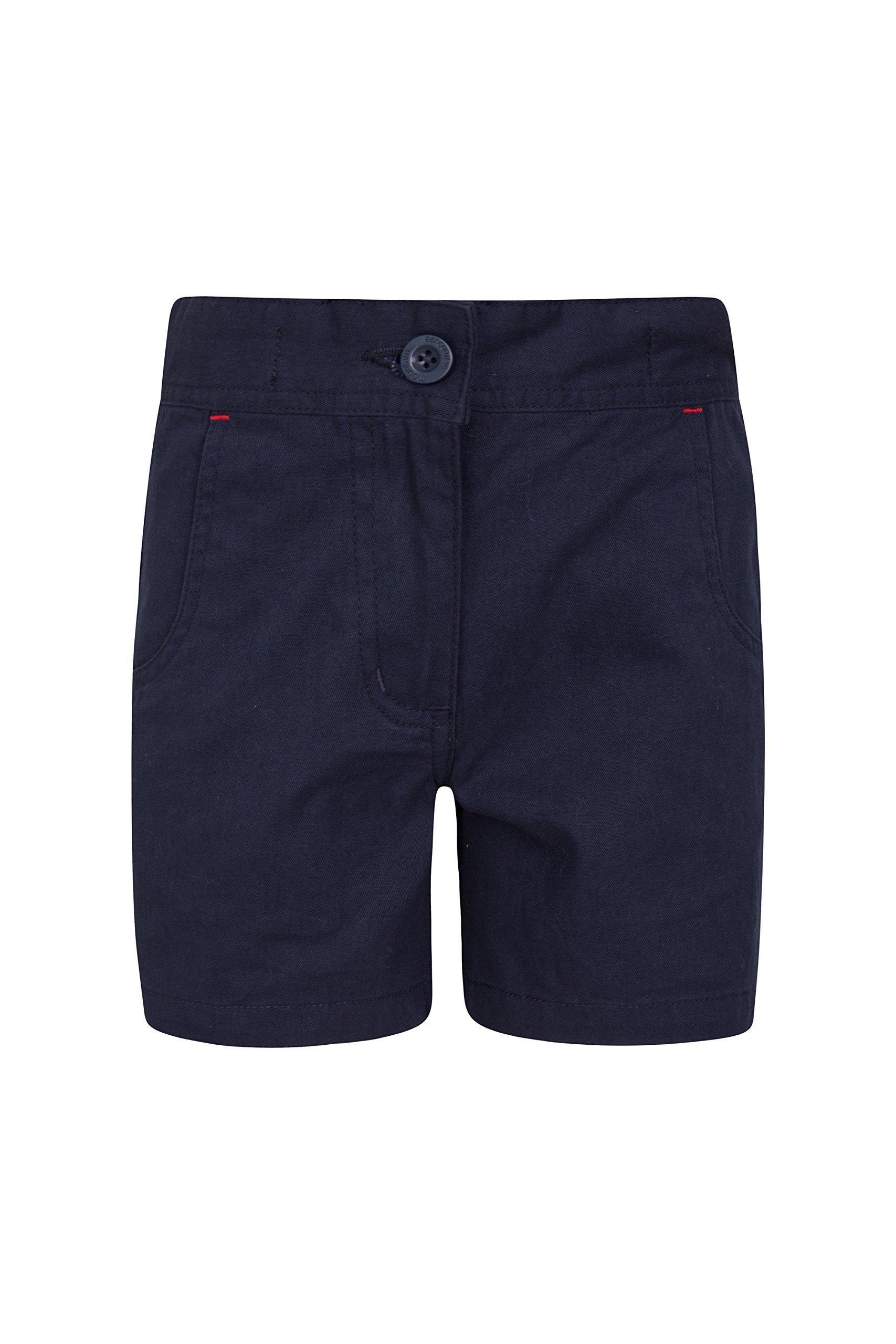 Mountain Warehouse Waterfall Girls Shorts - Durable Kids Hot Pants Navy 11-12 Years