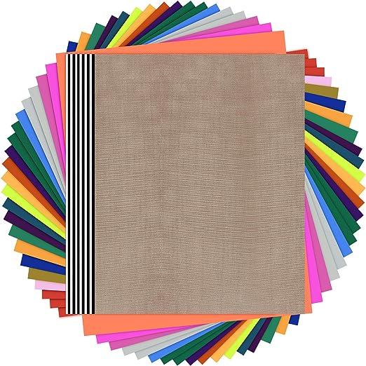 20 HTV SHEETS Craft Iron-on Heat Transfer Vinyl Box of Orange HTV Sheets