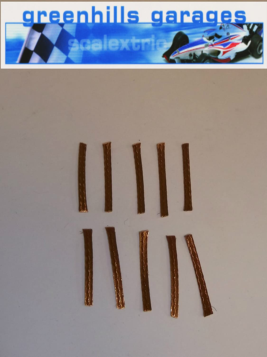 Greenhills Scalextric Micro Scalextric Spares Braids / Brushes x 10 - 100% Copper