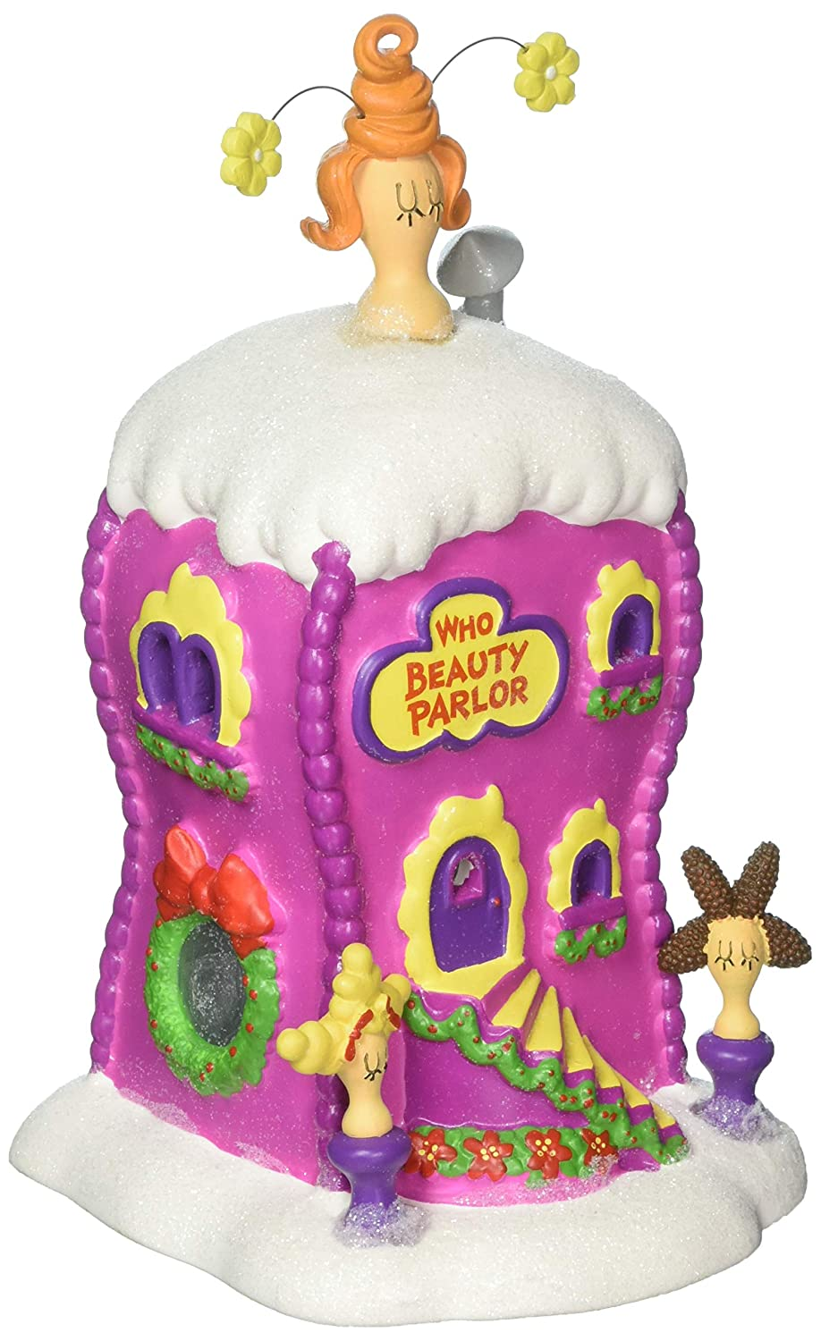 Department 56 Grinch La Boutique Beauty Parlor Village Lit Building, Multicolor 4059422