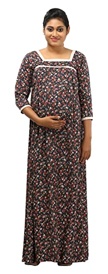 Ziva Maternity Wear Women s Maternity Nighty (ZMN 1616 S cfd1a5c3b