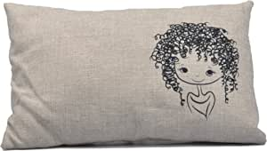 Cotton Pillow with Filling for Decoration