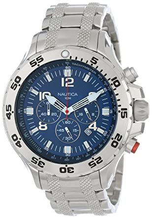 1fed6b3d022 Amazon.com  Nautica Men s N19509G NST Stainless Steel Watch  Nautica ...