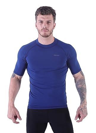 66139b488 VICROAD-UK Men's Short Sleeve UV Rash Vest T-Shirts UPF 50+ Surf Rashguard  Swimsuit Quick Drying Athletic Tops-S