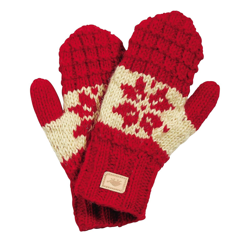 Turtle Fur Mani Mittens Nepal Hand Knit Wool Mittens Lined//Fleece Turtle Fur Mani Mittens Nepal Hand Knit Wool Mittens Lined//Fleece Red
