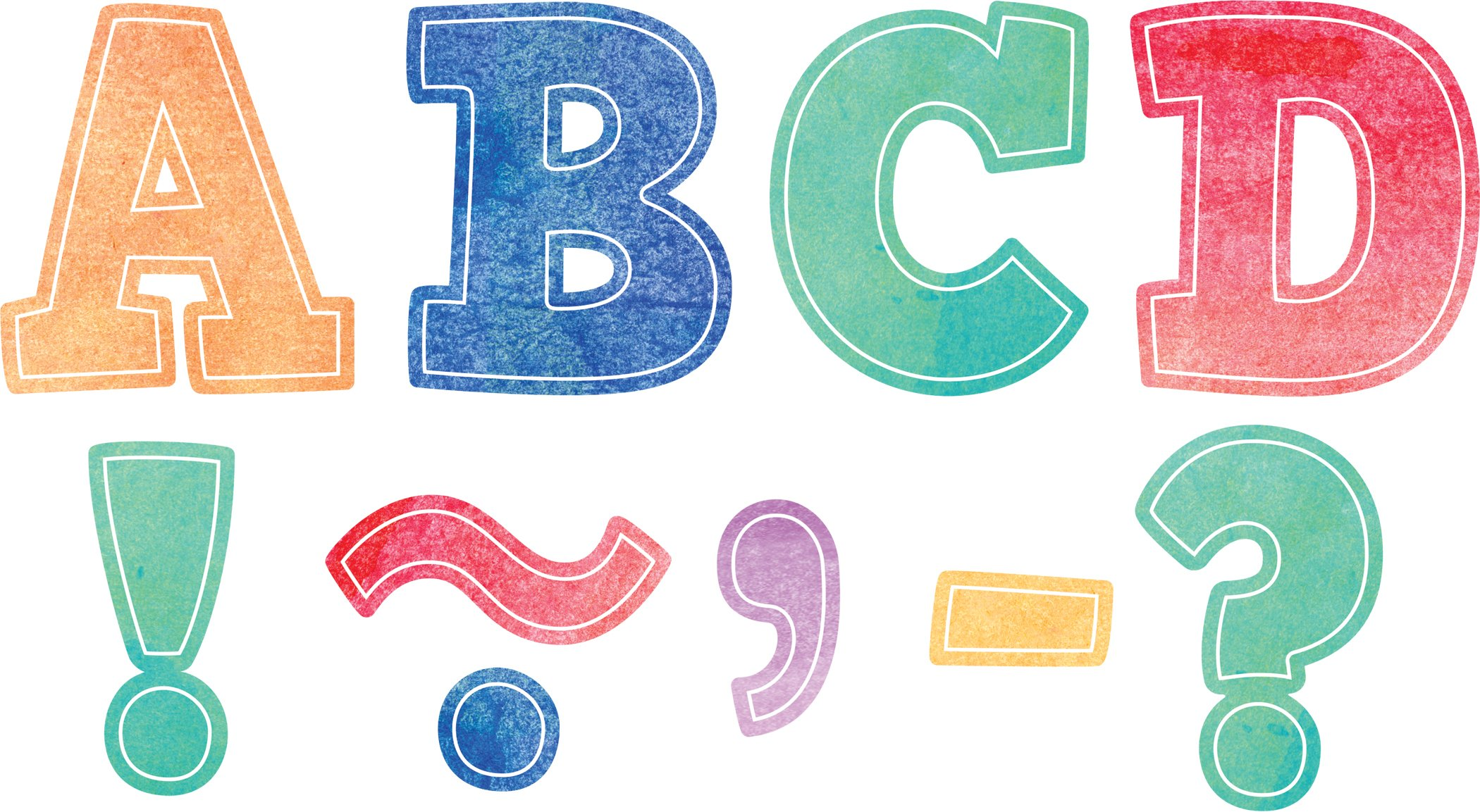 Teacher Created Resources Watercolor Bold Block 3'' Magnetic Letters