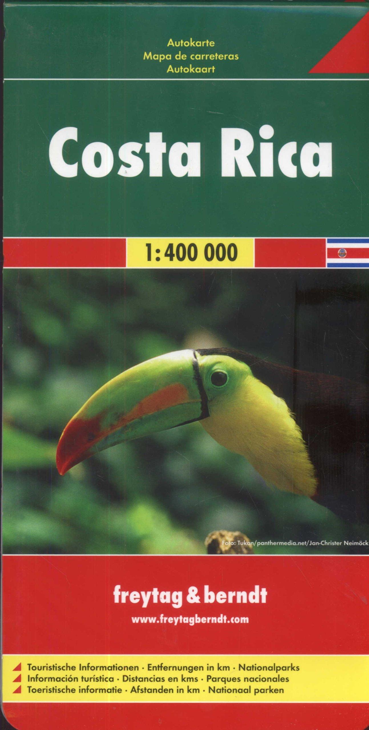 Freytag Berndt Autokarten, Costa Rica - Maßstab 1:400 000