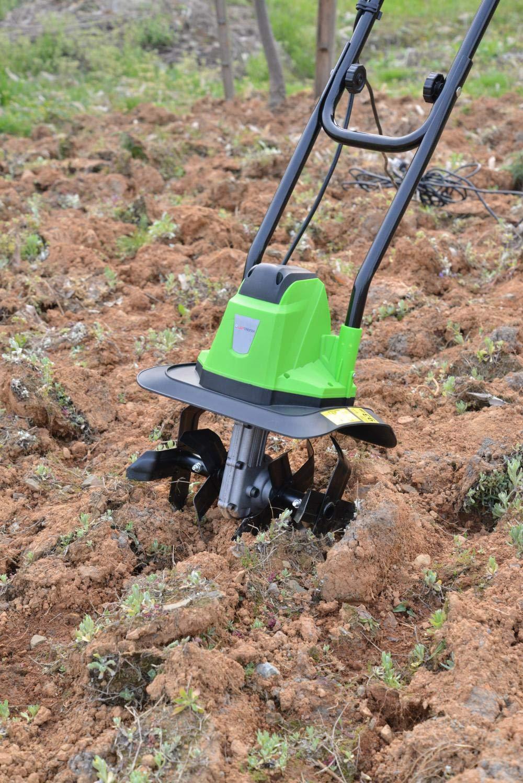 YesUKDirect ELECTRIC GARDEN TILLER ROTAVATOR CULTIVATOR SOIL TURN 750W ROTOVATOR