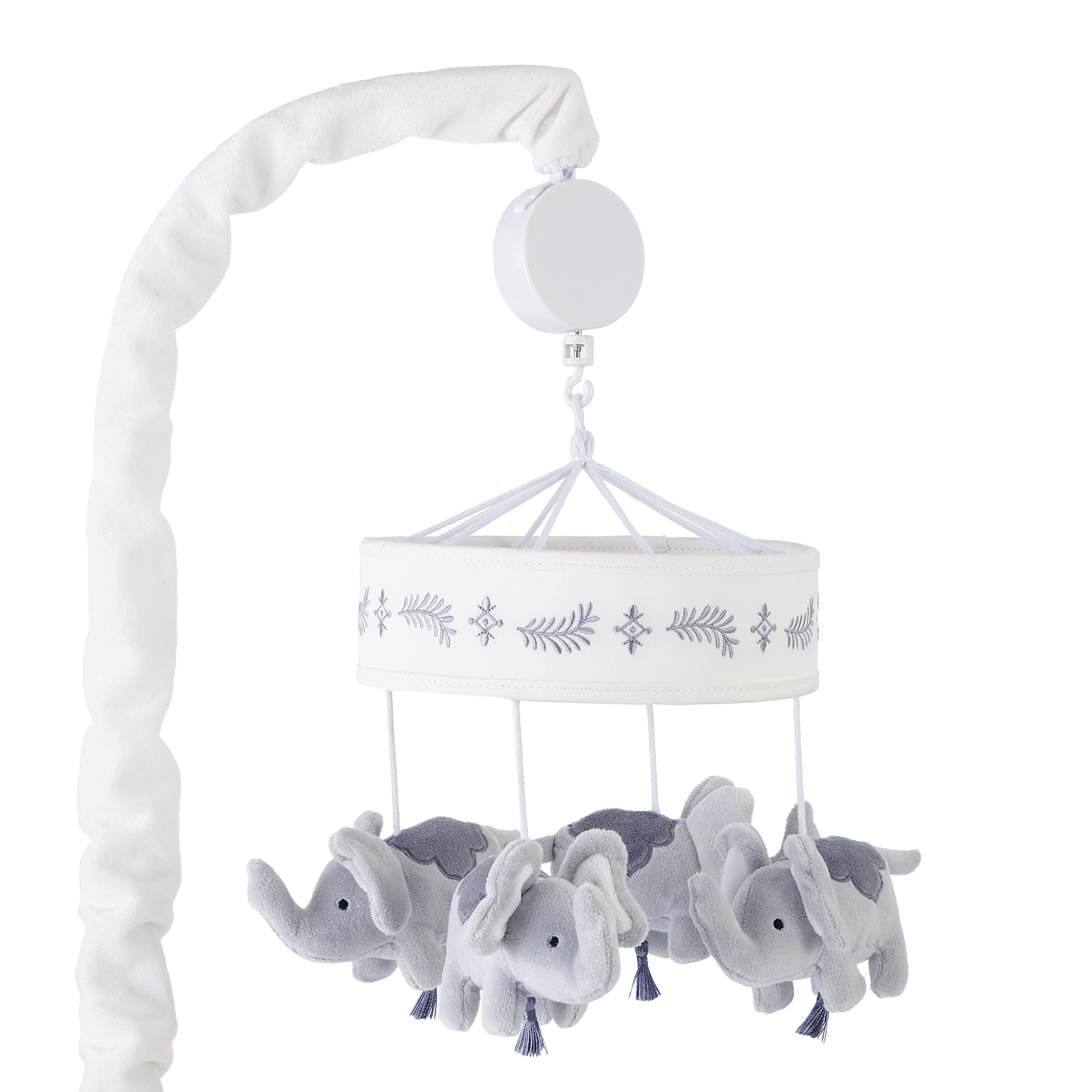 Levtex Home Baby Jungalo Grey Elephant Plush Crib Mobile